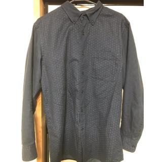 ユニクロ(UNIQLO)のシャツ ドット柄 ユニクロ ネイビー色 LL メンズ(シャツ)