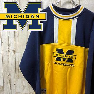 【激レア】NCAA ミシガン大学 スウェット トレーナー L MICHIGAN(スウェット)