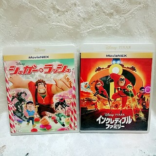 ディズニー(Disney)の新品♡シュガーラッシュ&インクレディブルファミリー  ブルーレイ  正規ケース付(キッズ/ファミリー)