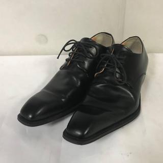 アバハウス(ABAHOUSE)の極美品本物アバハウスABAHOUSE本革レザービジネスシューズ靴メンズ黒25cm(ドレス/ビジネス)