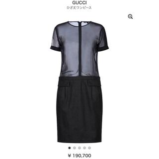 グッチ(Gucci)のGUCCI ワンピース 美品(ひざ丈ワンピース)