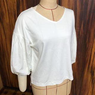 ジーユー(GU)のパフスリーブT(七分袖)(Tシャツ(長袖/七分))