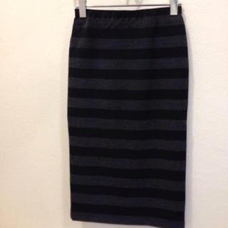 アウラアイラ(AULA AILA)のAULAAILAのペンシルボーダースカート(ひざ丈スカート)