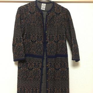 3fda6263c7e5b ミナペルホネン(mina perhonen)のANTIPAST 刺繍コート(ロングコート)