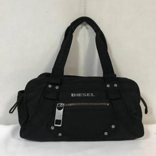 DIESEL - 本物ディーゼルDIESELキャンバスミニボストントートハンドバッグ黒ブラック
