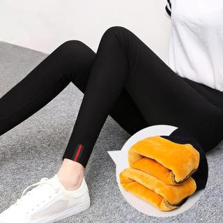 アディダス(adidas)の【大人気】裏起毛 レギンス パンツ スキニー タイツ 黒 レディース M(レギンス/スパッツ)
