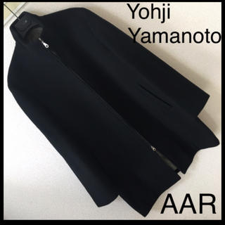 ヨウジヤマモト(Yohji Yamamoto)の◆良品◆ヨウジ ヤマモト AAR◆ウールメルトン スタイリッシュ コート M 黒(チェスターコート)