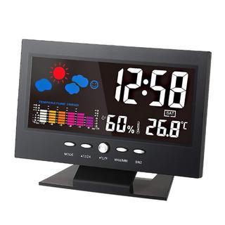 人気!LCD デジタル温度湿度計(掛時計/柱時計)