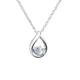 ヨンドシー(4℃)の4℃ ネックレス(ダイヤモンド、アクアマリン)(ネックレス)