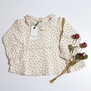 キャラメルベビー&チャイルド(Caramel baby&child )のtocoto vintage トコトヴィンテージ ブラウス 花柄 フラワー(シャツ/カットソー)