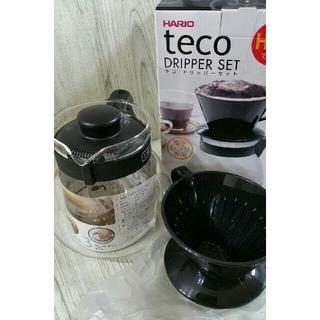 ハリオ(HARIO)の新品 HARIO ペーパーフィルター2パック付テココーヒードリッパー(調理道具/製菓道具)