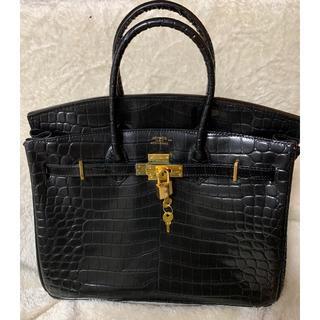 エルメス(Hermes)のエルメス バーキン35 クロコダイル ニロティカス ブラックマット ゴールド金具(ハンドバッグ)