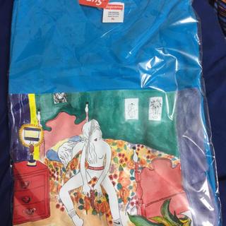 シュプリーム(Supreme)のSupreme Bedroom tee blue 18AW tシャツ水色XL新品(Tシャツ/カットソー(半袖/袖なし))