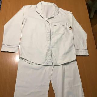 ユニクロ(UNIQLO)のユニクロ コットンパジャマ 上下セット 長袖 長ズボン オフホワイト(パジャマ)
