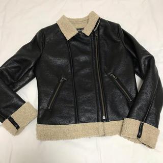 ユニクロ(UNIQLO)のUNIQLO ユニクロ Neo Leather ボアライダースジャケット(ライダースジャケット)