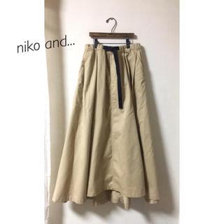 ニコアンド(niko and...)のタックギャザーロングスカート(ロングスカート)