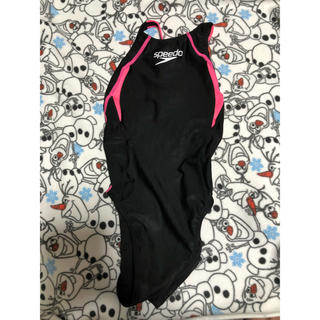 スピード(SPEEDO)の競泳水着 speedo 黒 Lサイズ(水着)