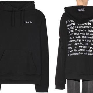 バレンシアガ(Balenciaga)のVETEMENTS 16SS definition hoodie パーカー XS(パーカー)