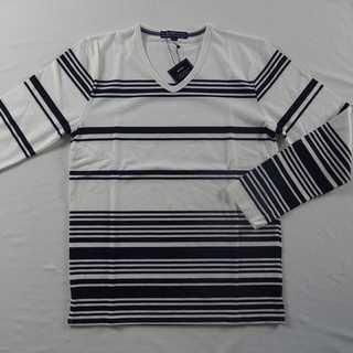 【新品】BENO Vネック 長袖 W&N M (49)(Tシャツ/カットソー(七分/長袖))