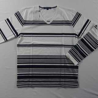 【新品】BENO Vネック 長袖 W&N L (49)(Tシャツ/カットソー(七分/長袖))
