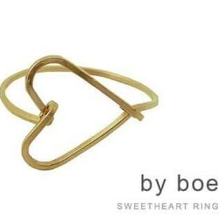 バイボー(by boe)の大人気!by boeハートを射止めるリングゴールド(リング(指輪))