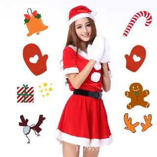 4点セット★クリスマス☆サンタ コスプレ☆レディース (衣装一式)