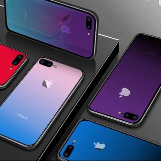 iPhone7 iPhone8 グラデーション 強化ガラス(iPhoneケース)