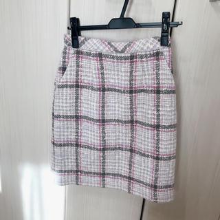 アプワイザーリッシェ(Apuweiser-riche)のパステルチェックスカート(ひざ丈スカート)