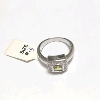 オラオラ系リング グリーンCZ 13号 クリスマスプレゼントにも♪(リング(指輪))