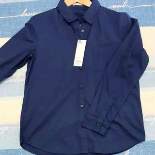ジーユー(GU)のネイビー ワイシャツ (シャツ/ブラウス(長袖/七分))