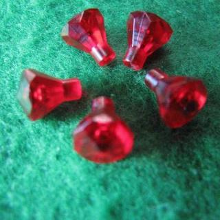 レゴ(Lego)のレゴ-LEGO★宝石蛍光レッドダイヤモンド★赤★5個★30153★宝物★新品(積み木/ブロック)