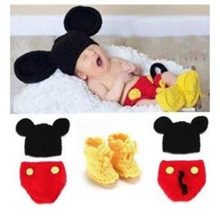 Disney - ミッキーマウス コスプレ仮装  帽子とパンツ 靴下セット