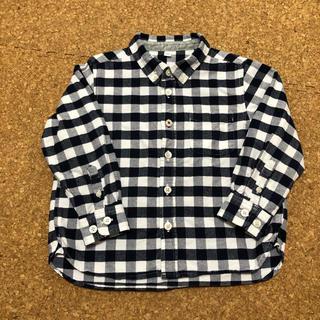 ムジルシリョウヒン(MUJI (無印良品))の無印良品 オックスフォードシャツ 100 ネイビー(ブラウス)