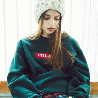 ミルクフェド(MILKFED.)のMILKFED.(ミルクフェド) knitberetケーブルニットベレー帽(ハンチング/ベレー帽)