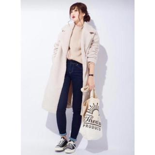 ジーユー(GU)の新品 gu ボア コート オフホワイト HYKE  イエナ プラージュ(チェスターコート)