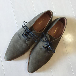 オゥバニスター(AU BANNISTER)のAu BANNISTER スエードレースアップシューズ(ローファー/革靴)