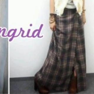 アングリッド(Ungrid)のungrid マキシム巻きチェックスカート(ロングスカート)