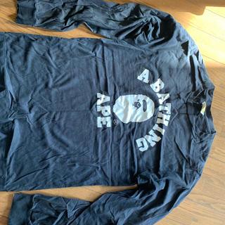 アベイシングエイプ(A BATHING APE)のBAPE ブラックロンT  A BATHING APE(Tシャツ/カットソー(七分/長袖))