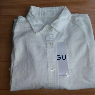 ジーユー(GU)のGUシャツワンピース☆Mサイズ(シャツ/ブラウス(長袖/七分))
