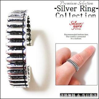 [274]指輪 フリーサイズ シルバー メンズ レディース リング 銃 銃弾(リング(指輪))