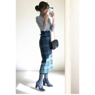 ザラ(ZARA)のZARA チェック スカート(ひざ丈スカート)