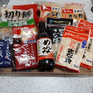 北海道産、めんみ&餅&きな粉&あんこセット(菓子/デザート)
