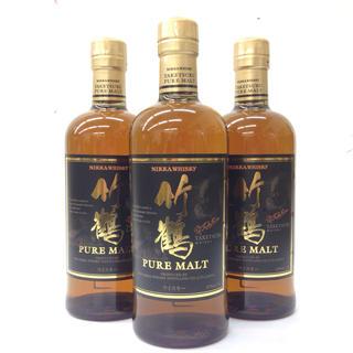 ニッカウイスキー(ニッカウヰスキー)の新品未開封 3本セット ニッカ 竹鶴 ピュアモルト A181217(ウイスキー)