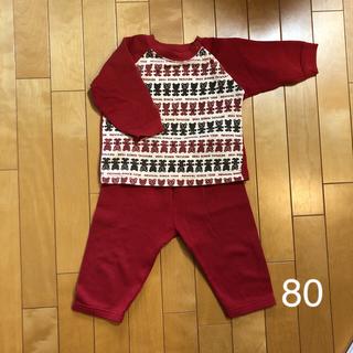 ニシマツヤ(西松屋)のくま柄 赤色 子供用パジャマ(パジャマ)