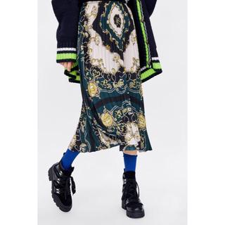 ザラ(ZARA)のZARA今期大人気スカーフスカート(ひざ丈スカート)