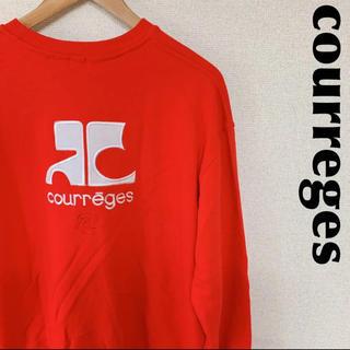 クレージュ(Courreges)のcourreges クレージュ トレーナー スウェット デカロゴ 1130(スウェット)