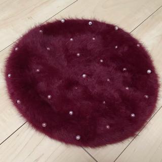ベレー帽 ファーベレー帽(ハンチング/ベレー帽)