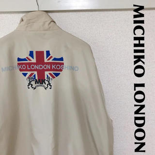 ミチコロンドン(MICHIKO LONDON)の古着屋購入 MICHIKO LONDON ナイロンジャケット デカロゴ 1107(ナイロンジャケット)