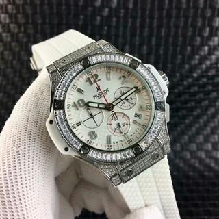 ウブロ(HUBLOT)のウブロ hublotメンズ 腕時計 ホワイト クノロ クオーツ時計 (腕時計(アナログ))