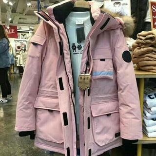冬服、アウトドアスポーツ、メンズ、レディースモデル、シックダウンコート、コート(ダウンジャケット)